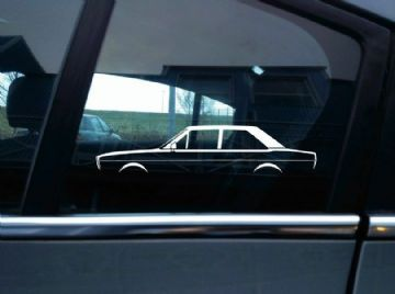 2X Car silhouette stickers - for Audi 80 , B1 (1972–1978) classic 2-door sedan